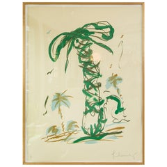Claes Oldenburg, Sneaker Lace in Landscape with Palm Trees, Lithograph
