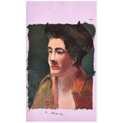 Clair Seglem Bougie Portrait Painting of a Woman