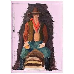 Clair Seglem Original Portrait Painting of a Cowboy