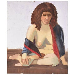 Clair Seglem Tall Nude Portrait Painting of a Woman in Repose