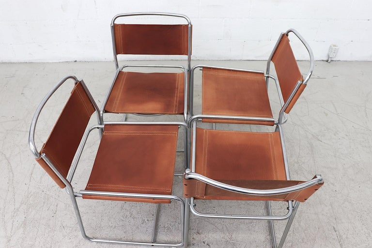 Mid-Century Modern Claire Bataille and Paul Ibens Model SE18 Dining Chairs For Sale