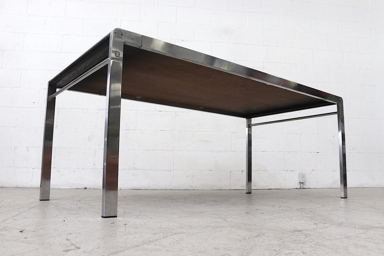 Stained Claire Bataille and Paul Ibens Dining Table for 'T Spectrum For Sale