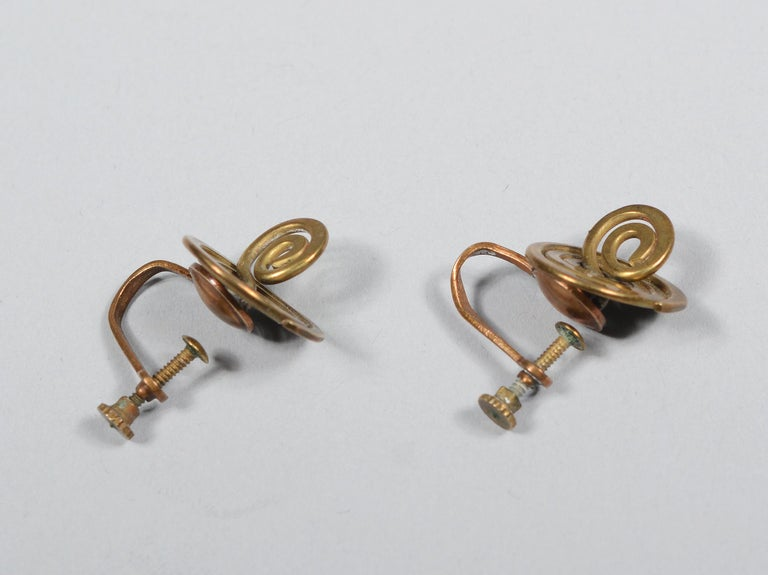 Claire Falkenstein Articulated Brooch and Earrings For Sale 4