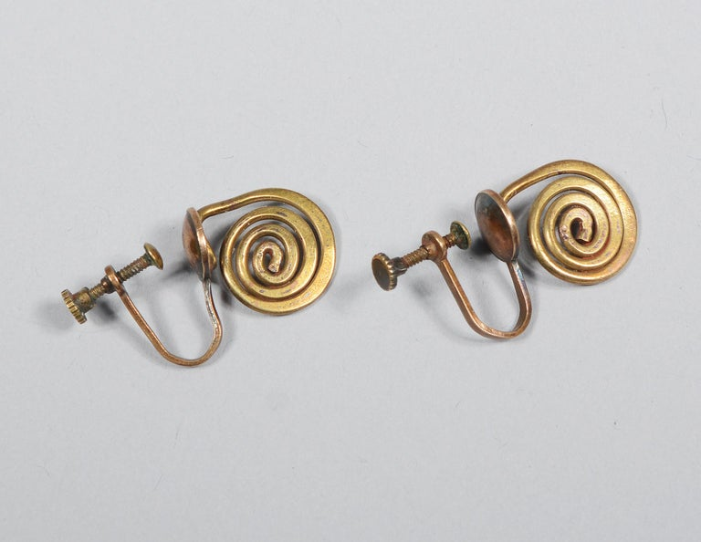 Claire Falkenstein Articulated Brooch and Earrings For Sale 2