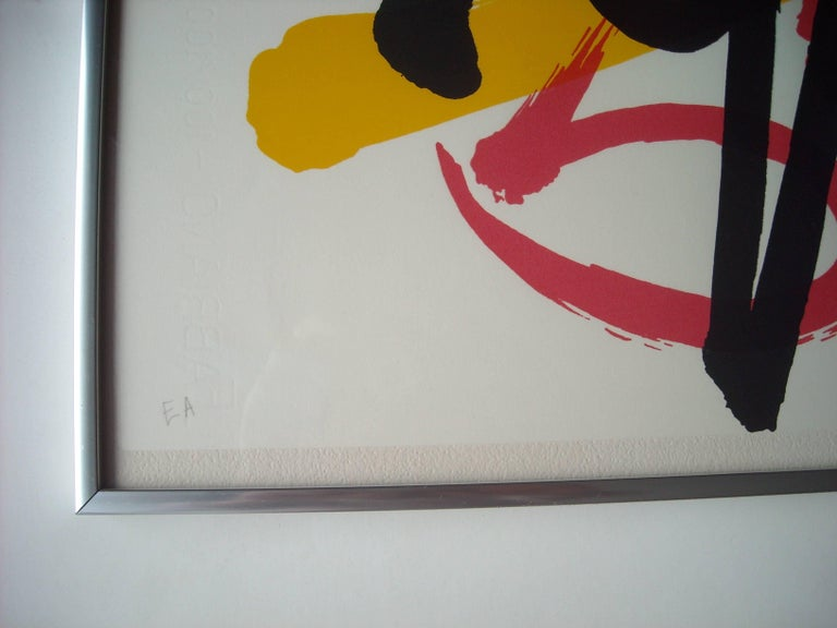 Modern Claire Falkenstein Very Fine Signed Abstract Lithograph, EA in Pencil Framed For Sale