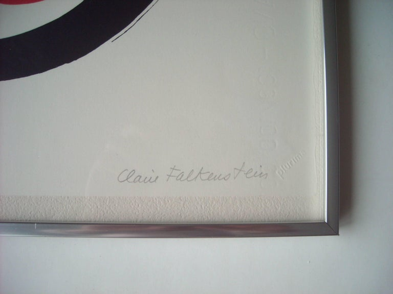 American Claire Falkenstein Very Fine Signed Abstract Lithograph, EA in Pencil Framed For Sale