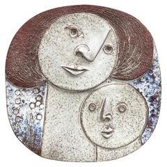 Claire Lambert '1936' Large Ceramic Plate, Atelier Dour, circa 1960-1970