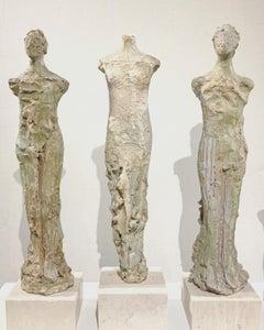 Sea to Earth 3 by Claire McArdle, terra cotta figurative sculpture