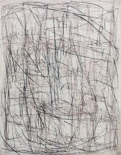What Is Was (Van Dyke Silver), abstract linear etching, layered black, grey