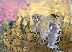Golden daze Original acrylic paints paper
