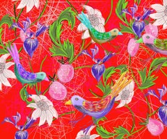 Red Bird Day, Limited Edition of 20, Bespoke finished with Diamond Dust Signed