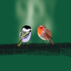 Two Birds, vibrant, abstract, signed, limited edition print, great reviews