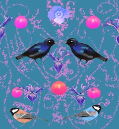 Birds of Four, Digital Print, Edition of 20, Bespoke Diamond Dust, Signed