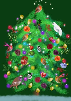 Christmas Tree, Print Childrens illustrator perfect hostess gift holidays