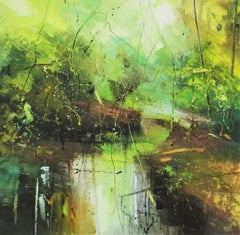 Beneath the Surface 5 - contemporary abstract landscape oil painting on canvas