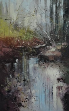 Internal Forest 3 - contemporary landscape abstract expressive oil painting