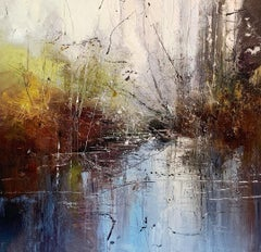 Internal Forest IV - contemporary expressive abstract forest landscape