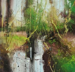 Staged in Spring 7 - contemporary abstract/landscape painting, oil on canvas