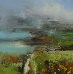 Welsh Roots II - contemporary oil abstract landscape painting