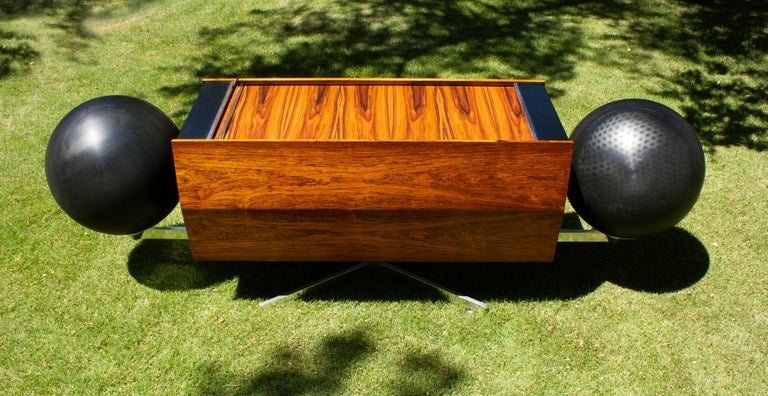 Canadian Clairtone Project G 1 T4 Rosewood Stereo System First Generation by Hugh Spencer For Sale