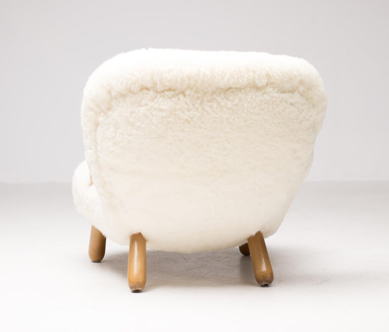 """""""Clam"""" Easy Chair Designed by Philip Arctander, Denmark, 1944 In Good Condition For Sale In Dronten, NL"""