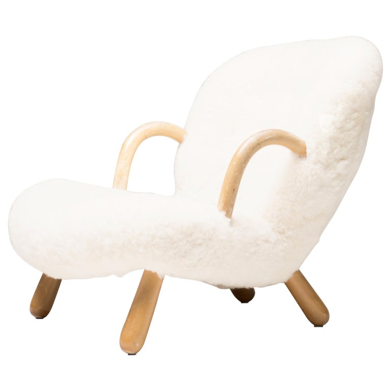 """""""Clam"""" Easy Chair Designed by Philip Arctander, Denmark, 1944 For Sale"""