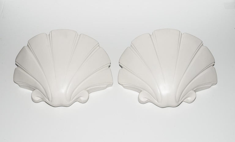 Clam Shell-Form Wall Sconces For Sale 2