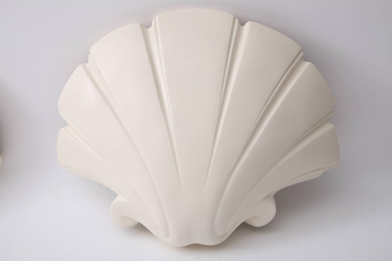 Hollywood Regency  Clam Shell-Form Wall Sconces For Sale