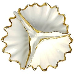 Clam Shell Porcelain Bowl by Capodimonte, Italy