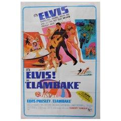 Clambake Elvis Presley 1967 Original Theatrical Poster