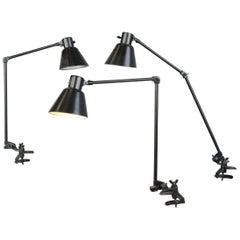 Clamp on Industrial Task Lamps by Schaco, circa 1930s