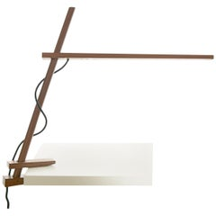 Clamp Table Lamp in Walnut by Pablo Designs