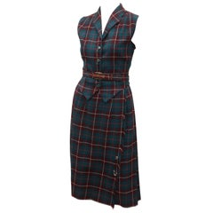 Clans of Scotland Wool Plaid Vest & Kilt Dress, 1950's