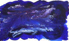 Deep Blue Sky - Large Textured Abstract Painting