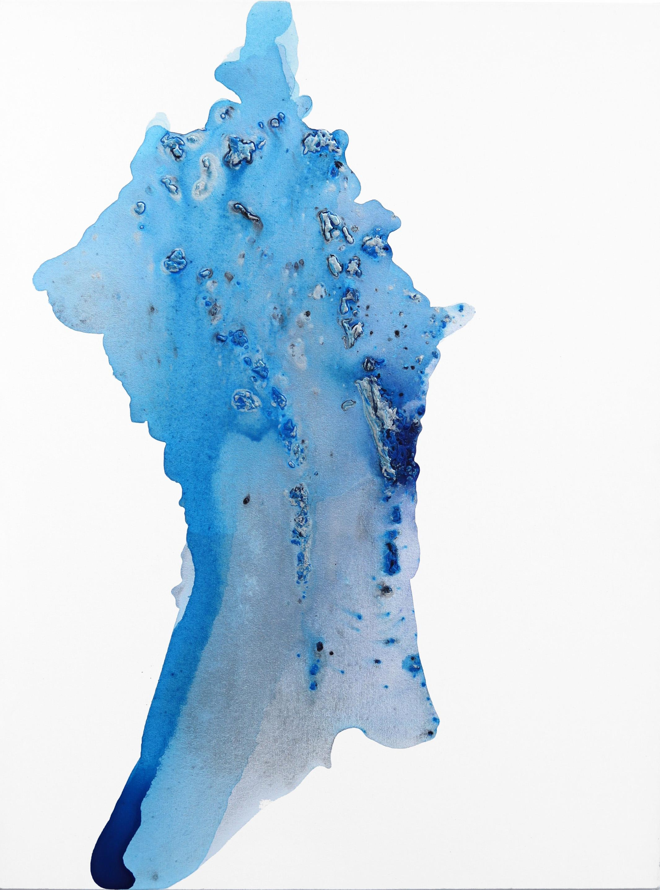 Island Blue - Ocean Blue Contemporary Waterscape Painting
