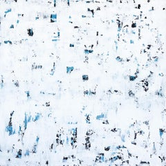White It Is - Textured White and Blue Layered Abstract Minimalist Painting