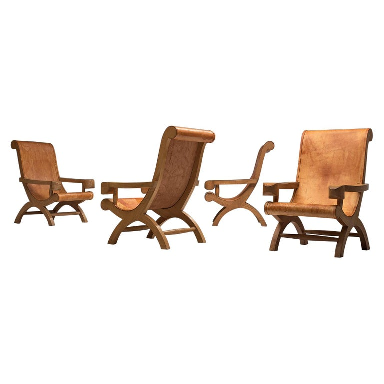 Clara Porset Butaque lounge chairs, ca. 1947, offered by MORENTZ