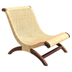 Clara Porset's wood and rattan Mexican Butaque Chair by Luteca
