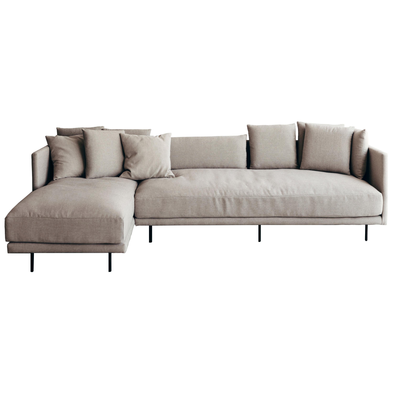 Clara linen color fabric upholstery Sofa