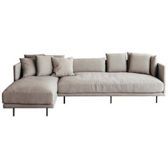 Clara linen color fabric upholstery Sofa