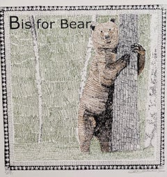 Clare Halifax, B is for Bear Small, Limited Edition Screen Print, Art Online