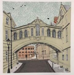Clare Halifax, Bridge of Sighs Oxford, Contemporary Oxford Art, Cityscape Print