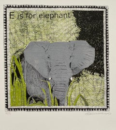 Clare Halifax, E is for Elephant (small), Limited Edition Print, Affordable Art