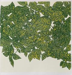 Clare Halifax, Hello Yellow (Green), Bright Art, Limited Edition Print, Happy