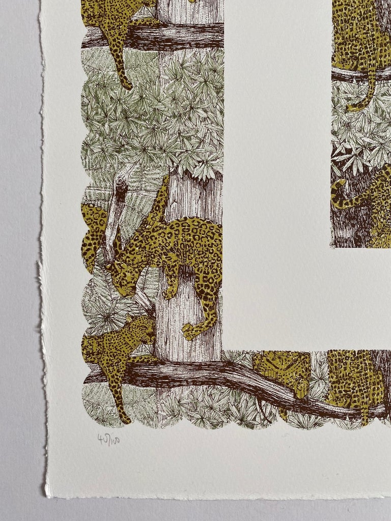 Clare Halifax, L is for Leopard, Alphabet Art. Limited Edition Art, Bright Art For Sale 1