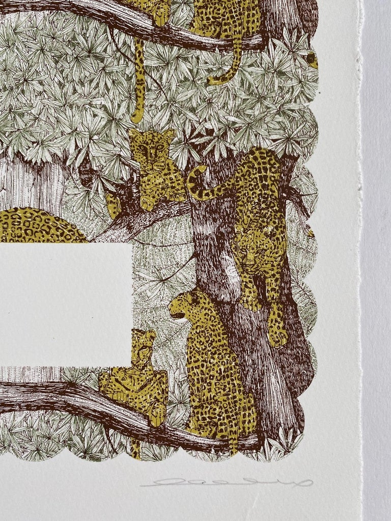 Clare Halifax, L is for Leopard, Alphabet Art. Limited Edition Art, Bright Art For Sale 2