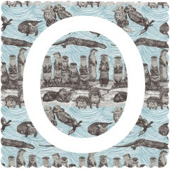 Clare Halifax, O is for Otter, Limited Edition Animal Print, Contemporary Art