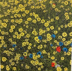 Clare Halifax, Summer Wildflower, Floral Art, Affordable Art