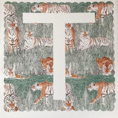 Clare Halifax, T is for Tiger, Limited Edition Alphabet Print,  Animal Art