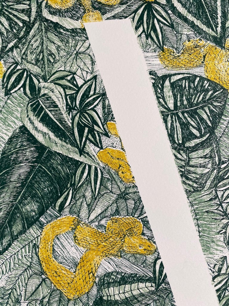 Clare Halifax, V is for Viper, Limited Edition Animal Art, Bright Monogram Print For Sale 4
